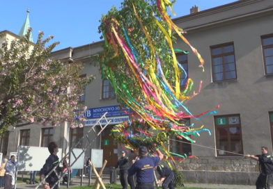 Mnichovo Hradiště oslavilo čarodějnice a postavilo májku