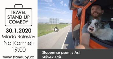 Mladá Boleslav - Travel stand-up: Stopem se psem v Asii