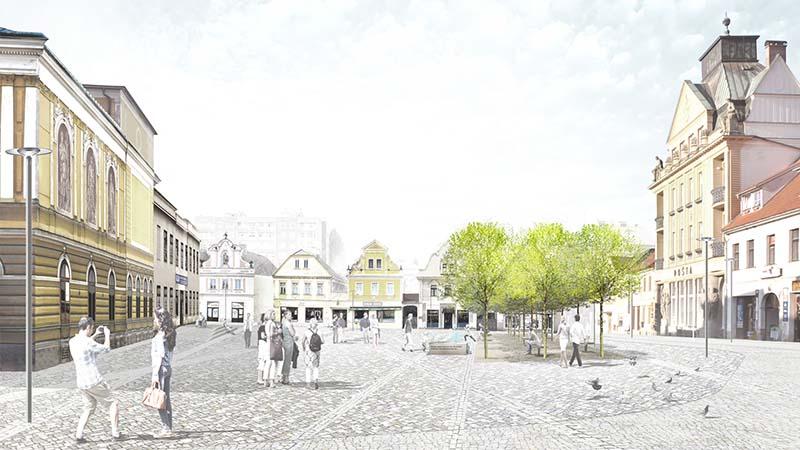 Masarykovo náměstí Mnichovo Hradiště